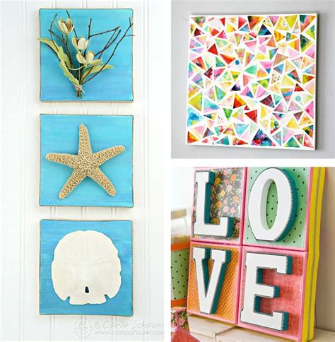 Handmade Artwork Ideas - diy canvas wall ideas 30 canvas tutorials