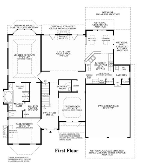 Princeton Floor Plans by Princeton At Morris Estates Luxury New Homes In