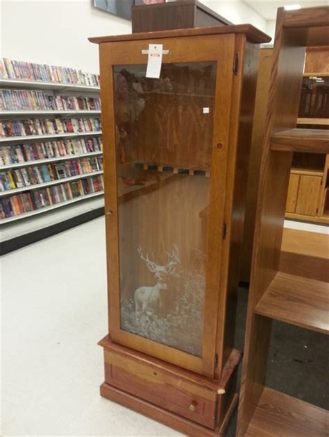 Wood Gun Cabinet With Etched Glass by Wood Gun Cabinet With Etched Glass Cepagolf