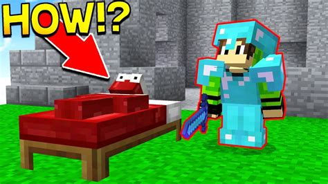 bed wars invisible bed wars trolling minecraft bed wars youtube