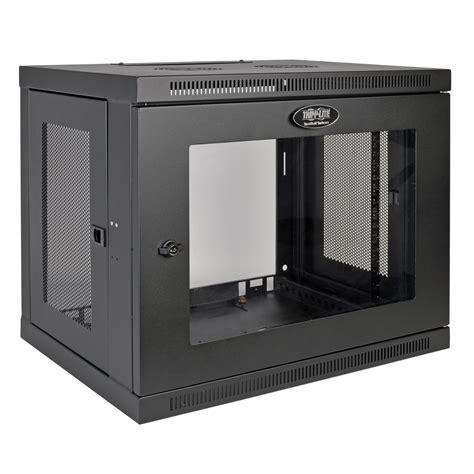 Mounting Cabinet Doors Tripp Lite Srw9ug Wall Mounted Rack 9u 90 7kg Black Rack 0 In Distributor Wholesale Stock For