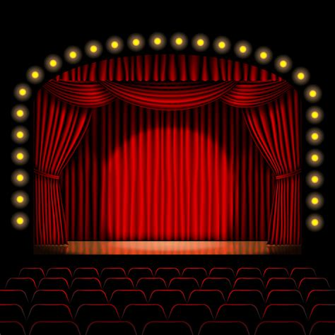 stage red curtains red curtains on stage mirth in a box