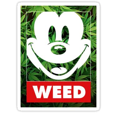 white facing weed facing weed mickey face weed sticker prosportstickers com