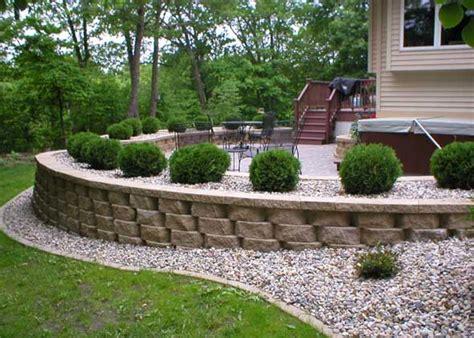 How To Build A Concrete Block House retaining walls thomas tree amp landscape