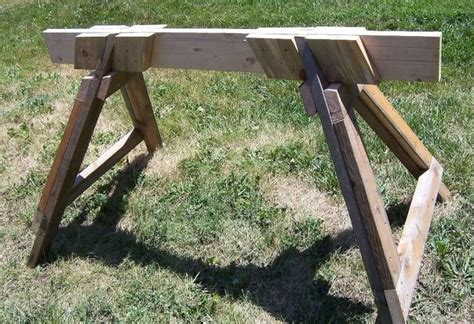 knock down shooting bench plans knockdown sawhorse plans woodworking projects plans
