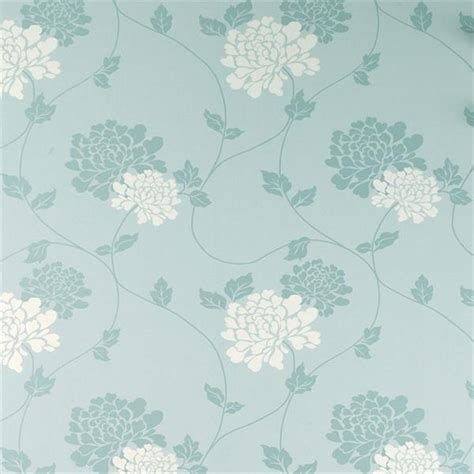 Pretty Wall Murals laura ashley isodore duck egg white floral wallpaper