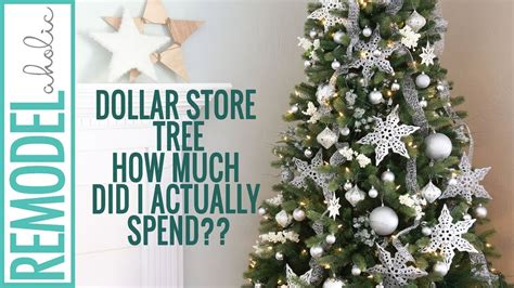 dollar tree christmas tree decoration youtube dollar store tree decorating tutorial silver and white tree