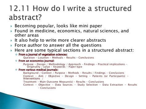 how to write a abstract for a research paper chapter 12 abstract for writing research papers