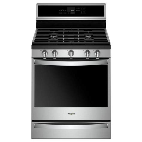 Lu Gas Proof shop whirlpool 5 burner freestanding 5 8 cu ft self cleaning convection gas range fingerprint