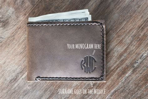 slim mens wallet bifold front pocket card holder