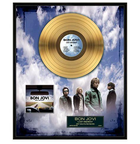 Vinyl Record Bon Jovi Lost Highway bon jovi lost highway gold record 24k gilt catawiki