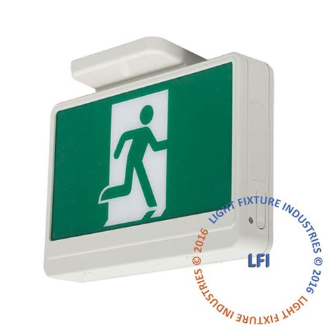 Exit Light Fixtures Led Running Exit Sign Led Emergency Lighting Light Fixture Industries