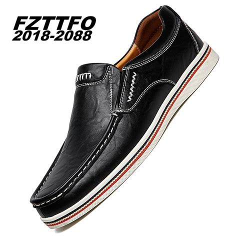 Handmade Boat Shoes - 38 47 big puls size handmade genuine leather flats s