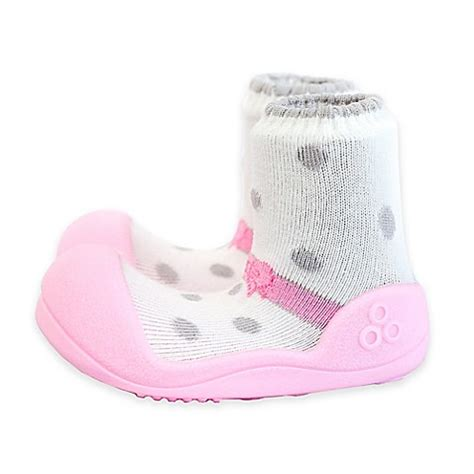 Attipas Ribbon M attipas 174 ballet style infant and toddler shoe in pink bed bath beyond