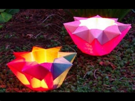 How To Make Flower Paper Lanterns - origami easy lantern origami flower lantern