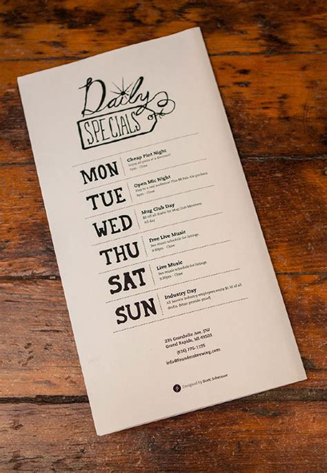 design inspiration menu 21 attention grabbing restaurant menu designs web