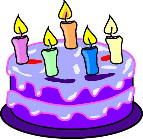 Kerzenhalter Clipart by Kostenlose Vektorgrafik Kuchen Kerzen Geburtstag Lila