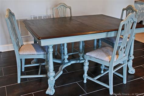 Grey Painted Dining Room Furniture Vintage Dining Table Refinishing Tutorial Uniquely Yours Or Mine