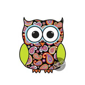 colorful owl black paisley owl car decal colorful owl bumper sticker
