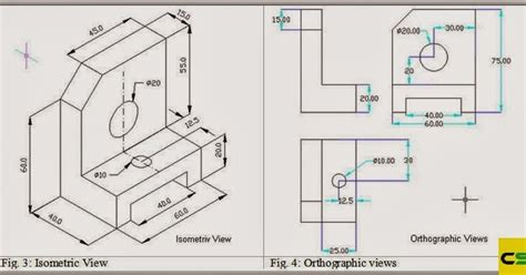 autocad tutorial orthographic 2d drawing isometric view and orthographic view caddskills