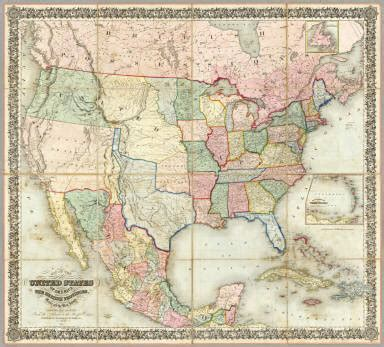 map of the united states of america colton j h 1848
