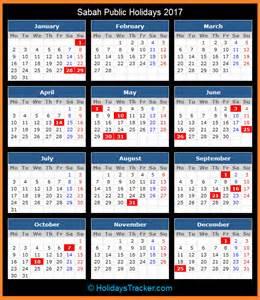 Calendar 2018 Sabah National Holidays And State Holidays Year 2016