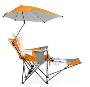 Reclining Chair With Umbrella by Sportbrella Folding Recliner Garden Chair W Footrest