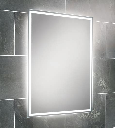 bathroom mirrors with lights uk hib ella led back lit mirror 700 x 500mm 64154495