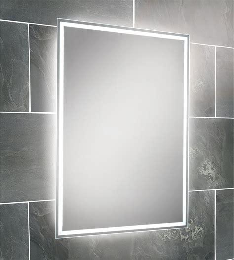 backlit bathroom mirrors hib ella led back lit mirror 700 x 500mm 64154495