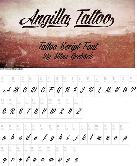 tattoo font angilla 35 awesome calligraphy fonts for designers