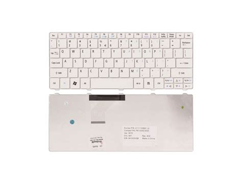 Keyboard Acer 532 Series White acer aspire one series 521 series replacement keyboard white acer gateway emachine