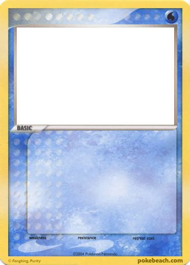 water type card template water card blanks pokebeach