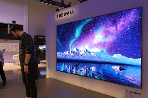 samsung wall tv samsung s 34 foot onyx led tv could change theaters forever digital trends