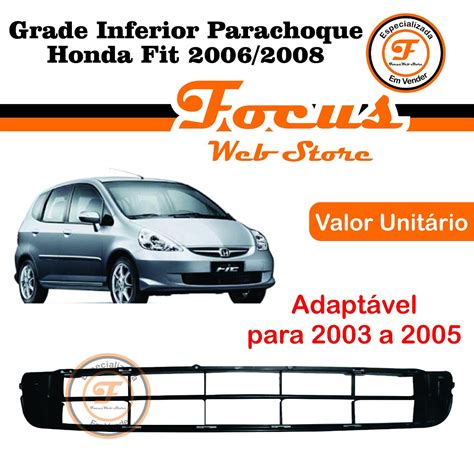 Honda City 2006 2007 2008 Pertengahan L Lu Besar grade inferior parachoque honda fit 2006 2007 2008 r 86