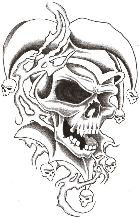 evil jester tattoo designs jester images designs