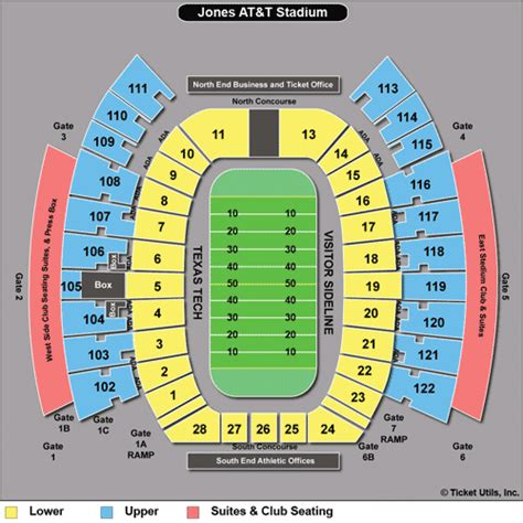 jones seating chart tech raiders football tickets 2018
