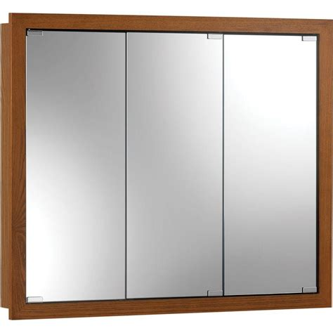 deco mirror 16 in x 30 in recessed v groove beveled