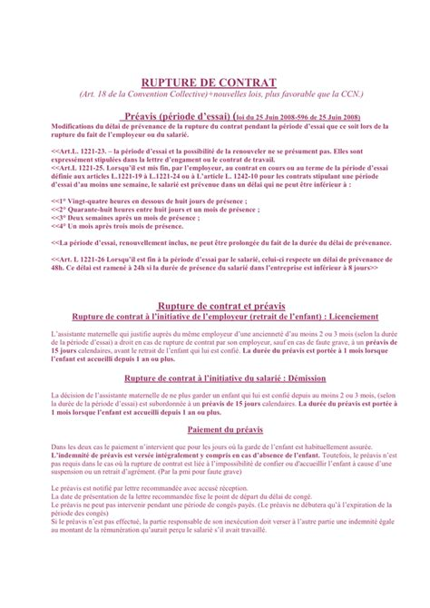 Modele Lettre Fin De Contrat Assistant Maternelle