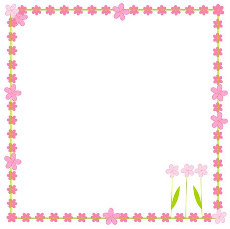 printable borders with flowers free floral clip art borders clipart best