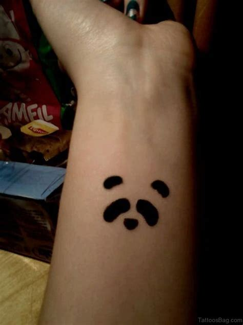 panda tattoo design 9 charming panda wrist tattoos