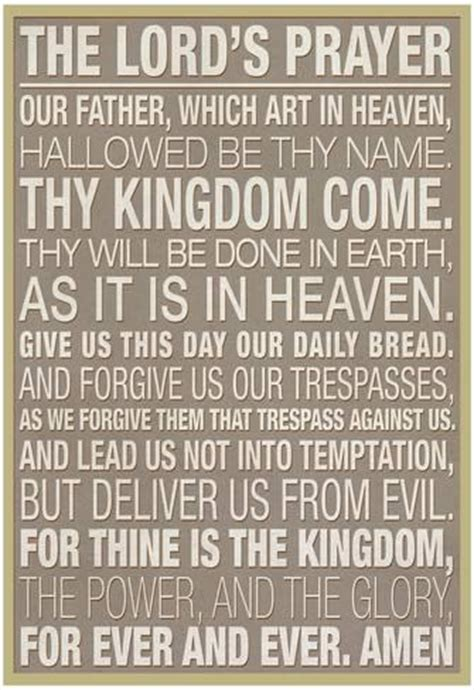 The Lord Prayer the lord s prayer print by allposters ie