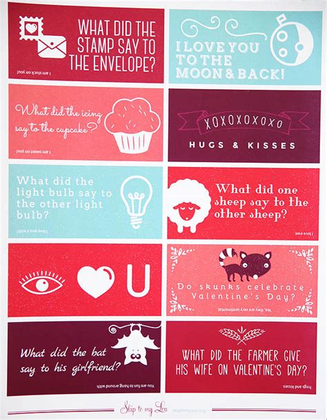 printable valentine jokes valentine lunch box jokes skip to my lou