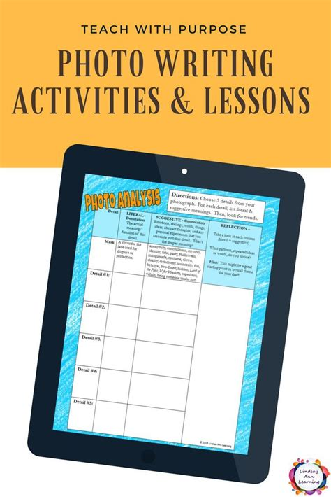 creative writing lesson plans and digital interactive