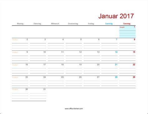 Kalender Ausdrucken Monat Kostenlose Kalendervorlagen 2017 Office Lernen