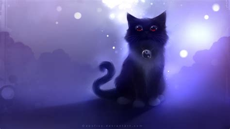 anime kitten hd wallpaper 18636 baltana kot full hd tapeta and tło 1920x1080 id 393959