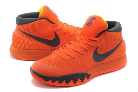 mens orange basketball shoes nike kyrie irving 1 orange grey mens basketball shoes for sale