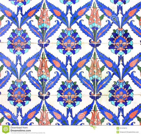piastrelle arabe arabic ornament on ceramic tiles stock photo image 31470970