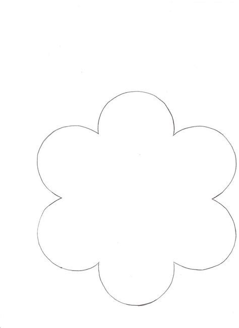 flower template with 6 petals 5 best images of 6 petals flowers templates printables