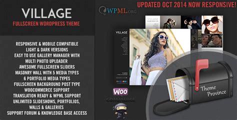 live village themes village a responsive fullscreen wordpress theme
