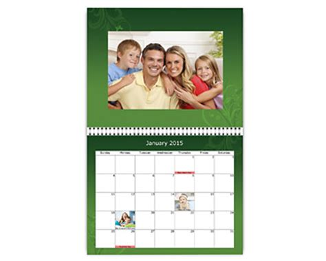 make your own photo calendar walmart create personalized calendars at mini box usa